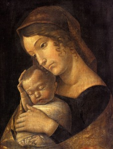 Virgin and baby Jesus by Andrea Mantegna