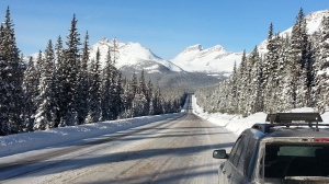 Canada on Hwy 93 Northbound into Narnia!