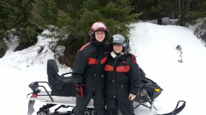 Finally ! Snowmobiling