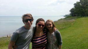 Kids at Lake Erie PA - July '13